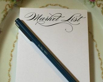 Market List, Grocery List, Grocery Pad, Market Pad, Pad of Paper, Notepad, 50 count pad, Paper Pad, List, List Pad, Office Pad, Desk Pad