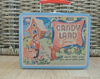 Retro Candyland Game Tin Lunchbox