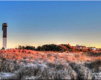 Sullivan's Island, Lighthouse, Charleston, Beach, Sea Oats, South Carolina, Landscape, Photography