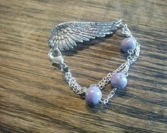 Wing memory bead bracelet