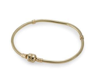 pandora style 14ct gold charm bracelet 18cm luxury gift