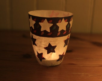 Paper colored night lantern