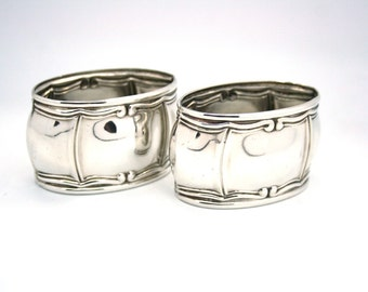 Pair of Regency Style Napkin Rings