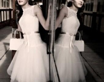 Jennifer Lace & Tulle Wedding Dress