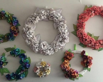 Large Medium and Small Paper wreaths