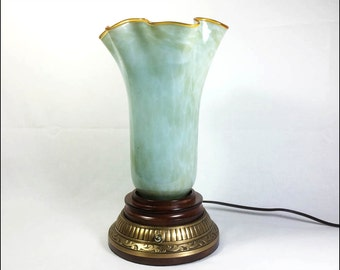 Sea Green Flare Top Accent Lamp