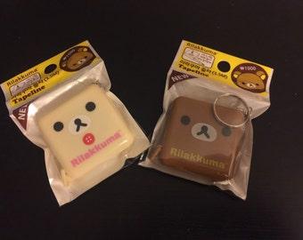 SALE Rilakkuma Tape Measure with Keychain Choose 1 brown or cream