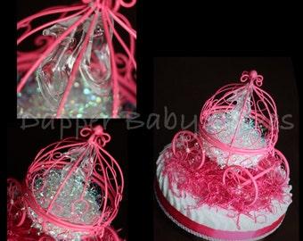 Cinderella carriage diaper cake