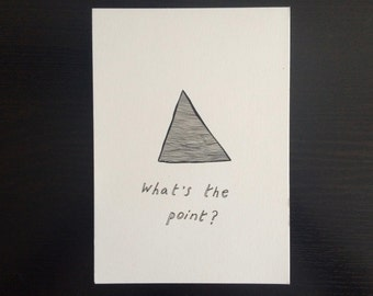What's the Point // Minimalist Line Drawing Illustration