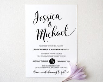 Wedding invitation template . Printable Wedding Invitation Suite. Wedding Invitation Suite. Wedding Invitation Set. 302