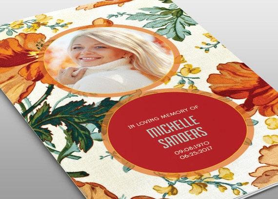Floral Beauty Funeral Program