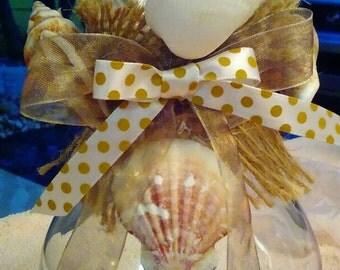 Nautical Seashell Vase