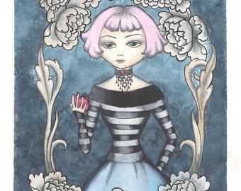 Original watercolour painting. 'Sabrina'.