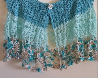 Handmade Crocheted Summer Vest Plus size