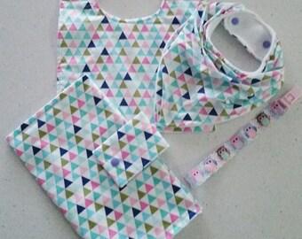 Geometric Triange Pastel Baby Set