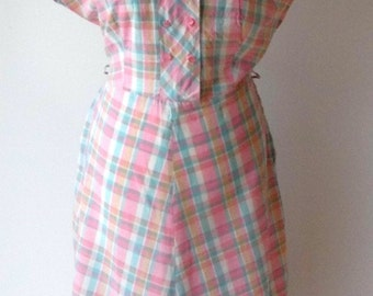 1950s cotton day dress size 14-16
