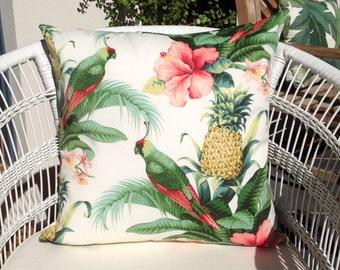 "Tommy Bahama Beach Bounty outdoor cushion cover 50cm sq. (20"")."