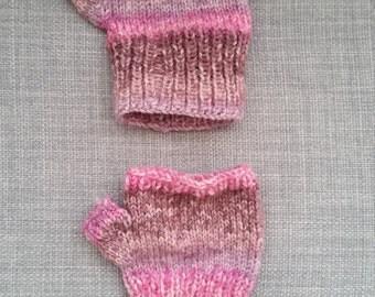 Hand-knit Baby Fingerless Gloves