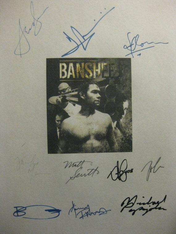 Banshee Signed TV Script Screenplay X10 Autographs Anthony Starr Ivana Milicevic Frankie Faison Anthony Ruivivar Ben Cross Michael Papajohn
