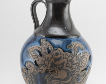 Pitcher - Blue Tones - With Earth Tone Relief - LOTR