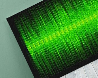Real Love Sound Wave Art Inspired By Mary J Blige - 24x8 Inch Canvas, Poster or Digital Image - Free P&P