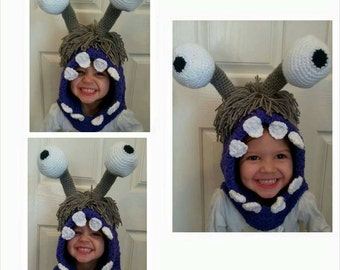 Crochet Boo Hooded Cowl, crochet Boo costume