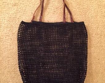 A handmade black market bag