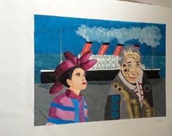 Machinary painting with titanic