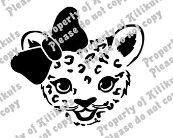 Cheetah cub svg file