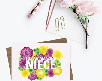 For an amazing niece card, niece's birthday card, card for a niece