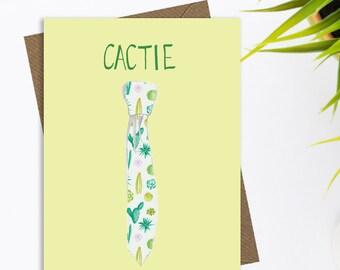 Fun cactus and succulent greetings card, cactus card, quirky greetings card, cacti