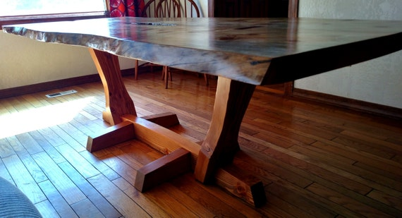 Live edge dining room table for Dining room tables etsy
