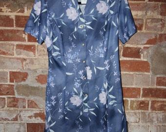 Gorgeous Blue Berkertex Dress Size 14