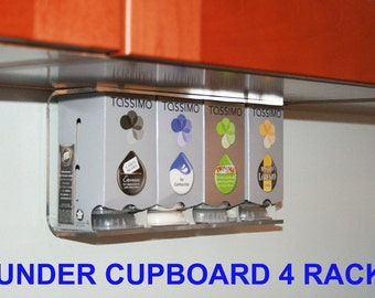 Tassimo 4 Box/32 Disk holder - UK Made - Perspex