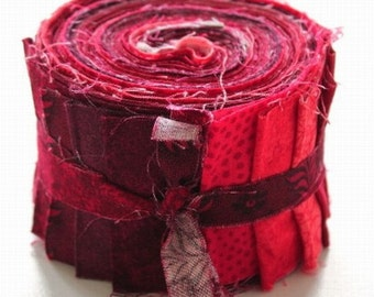 "Jelly roll red / red - 20 x (2.5 ""x 43"") - aq-034"
