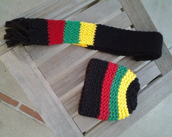Infants rasta beanie and scarf set