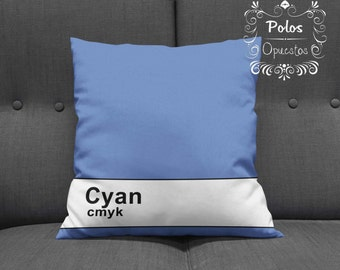 Cyan CMYK - Cushion - Pillow
