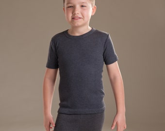 OCTAVE® Boys Thermal Underwear Short Sleeve T-Shirt / Vest / Top