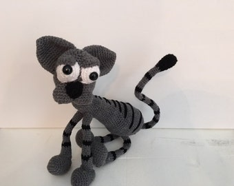 Cute kitty crocheted stuffed cat - Made to Order