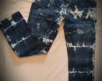 Sassy Upcycled Acid washed Skinny Jeans!