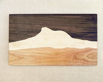 Camel's Hump Mountain, Mountain View Wood Cutting board, Mountains, Mountain view, Mountain Ridge, Hiking gift, Mountain art
