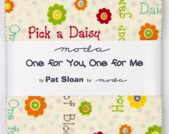 "Charm Pack - Moda - One for You, One for Me - Precuts - 5"" inch x 42 cuts - Cotton fabric"