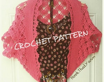 CROCHET PATTERN Criss-Cross Chrochet Shurg cardigan pull over SUMMER