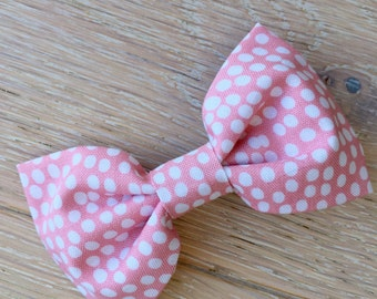Pink Spotted Bow
