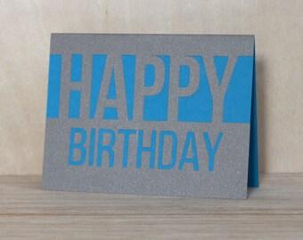 HAPPY BIRTHDAY // Birthday Card Handmade, Birthday Card for her, Birthday Card for him, Birthday Card Best Friend