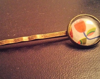 Barrette vintage pretty flower
