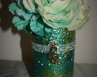 Light and Dark Green Vase