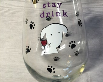 Dog Lover wine glass