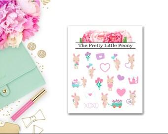 Bunnies in Love Mini Decorative Sheet