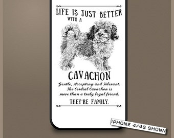 Cavachon dog phone case cover iPhone Samsung ~ Can be Personalised